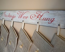 Christmas Stocking Hanger, Stocking Hanger, Christmas Stocking Holder, Personalized Stocking Hanger, Unique Stocking Hanger