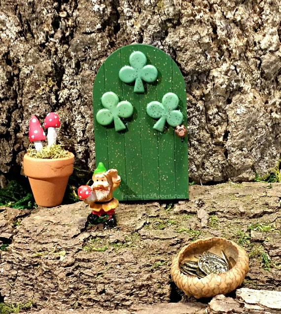 Irish fairy door st patrick 39 s day fairy garden for Irish fairy garden
