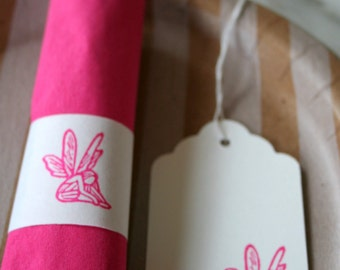 Fairy Party Decorations - Fairy Party Napkin Wraps & Tags - Fairies