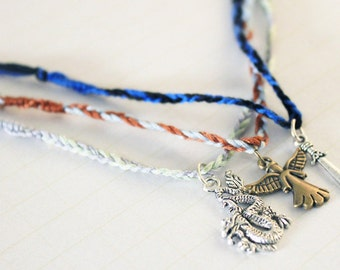 Complete set of handmade The Infernal Devices inspired bracelets (3) - Tessa Gray, Will Herondale, James Carstairs - Christmas Gifts