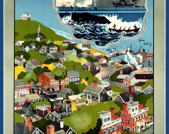Art Print Nantucket Travel Poster Print