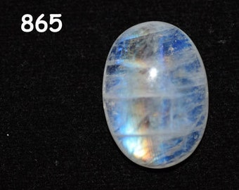 16 ct. Rainbow white Moonstone cabochons - 16 x 22 mm -  oval  blue purple fire - Flash Rainbow MOONSTONE - code :865