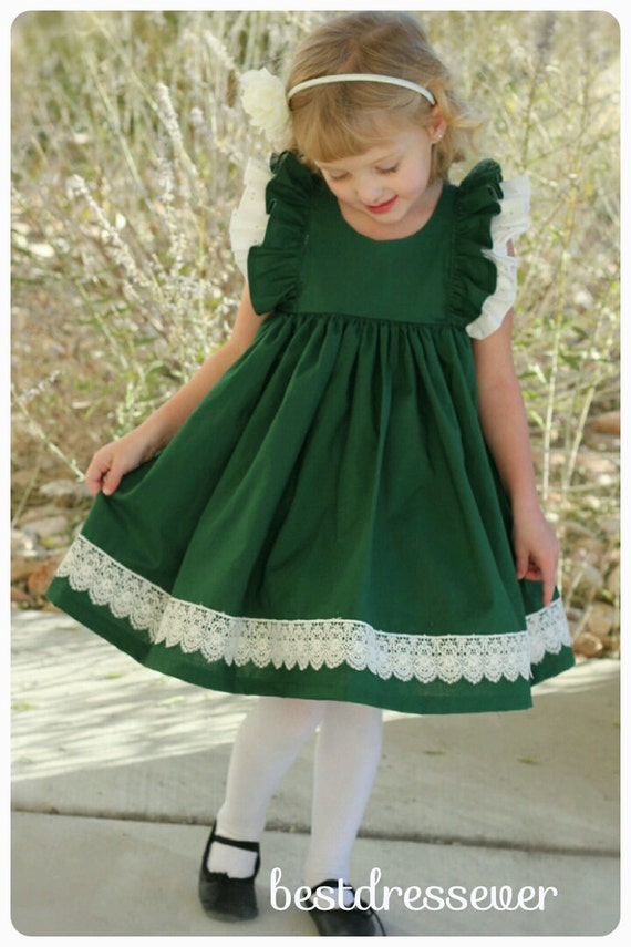 Items Similar To Toddler Green Christmas Dress Girls