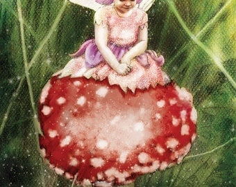Custom portrait of of your child as a flower fairy (based on photos supplied)