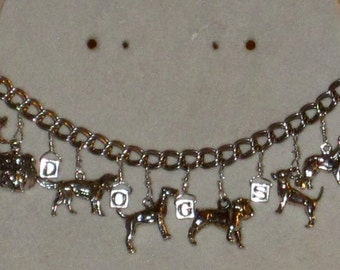 Going to the Dogs Artisan Sterling Silver Charm Bracelet