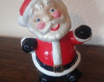 Vintage Jolly Large Santa Claus figurine with Rosy Cheeks