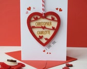 Couples/Valentines Day love token card