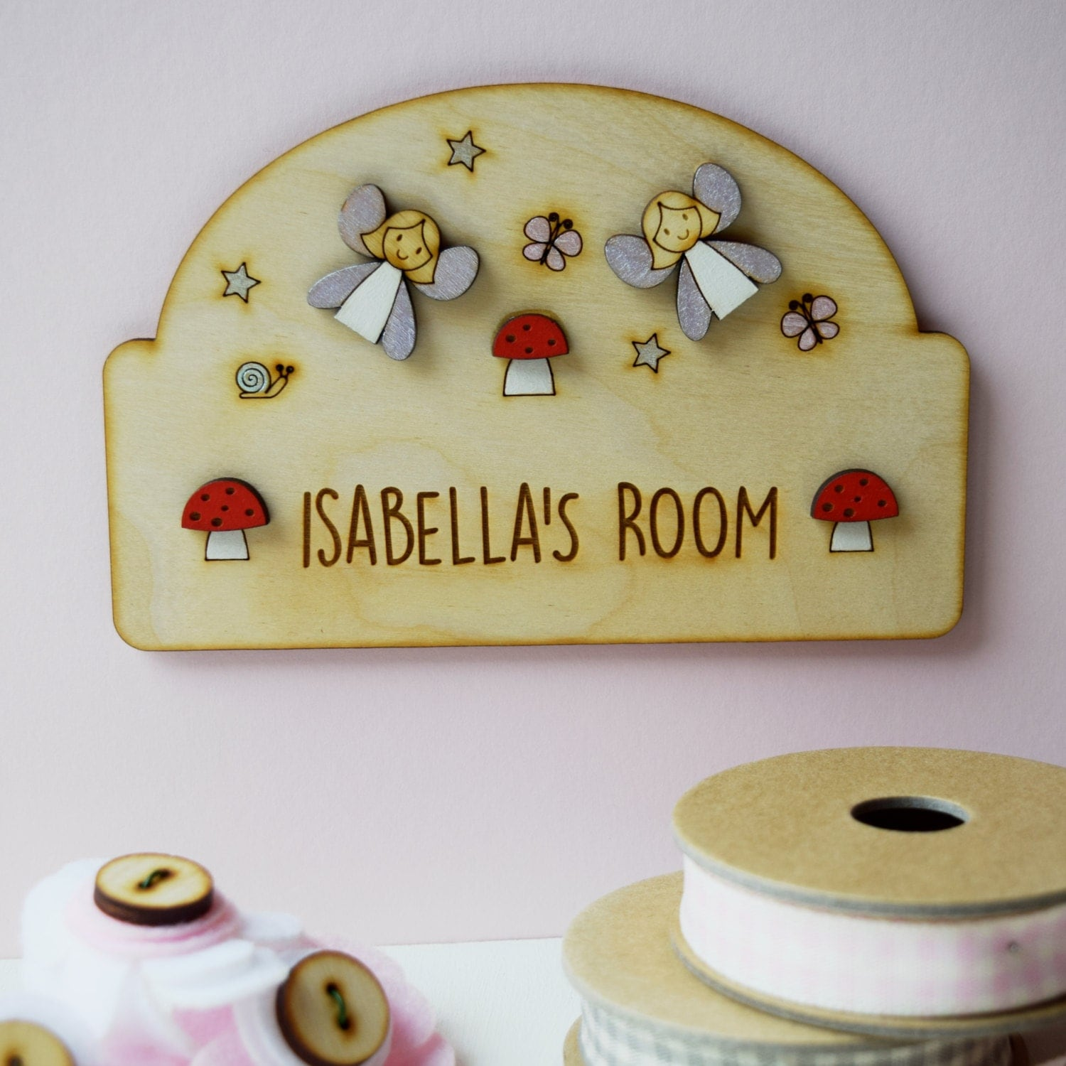 Fairy door plaque girls door sign personalised name sign fairy door plaque girls door sign personalised name sign girls name plaque new baby gift negle Image collections
