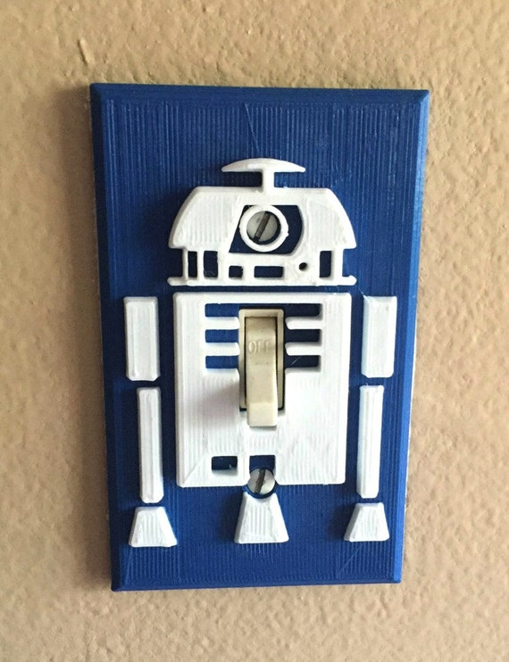 Star Wars R2d2 Light Switch Cover 3d Printed Complete Plate