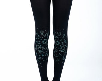 Science tights dark, perfect graduation gift, mathematics, biology gift