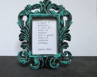 Anais Nin Mermaid Quote Typed on Typewriter & Framed / typewriter quote