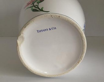 Vintage Tiffany floral painted vase