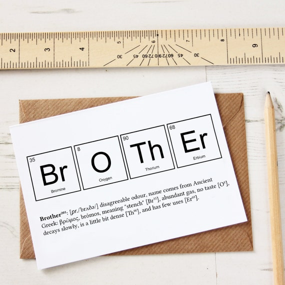 Funny brother elements cards funny sibling joke greeting like this item urtaz Image collections