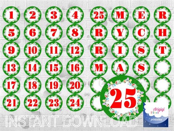 Countdown To Christmas Printable Advent Calendar Printable