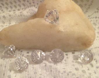 1  Inch Diamond Gems, Acrylic Diamonds, Faceted Diamonds, Clear Diamonds, Wedding Diamonds, Table Scatter