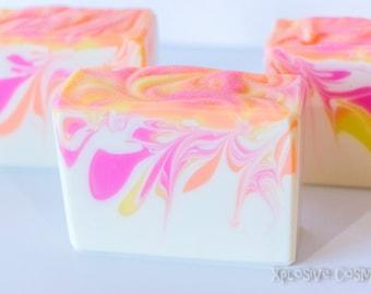 Berry Mimosa Bar Soap - Handmade Soap, Coconut Milk Soap, Vegan Soap, Cold Process Soap, Soaps