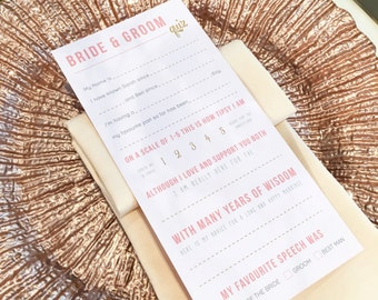 Table Wedding Quiz Blush And Gold