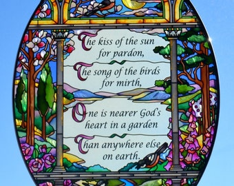 Garden Prayer Hand Painted Sun Catcher