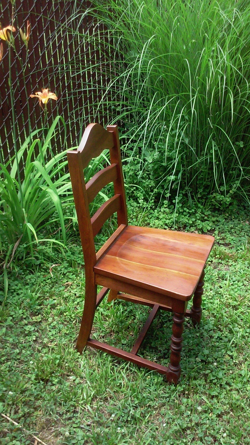 Vintage Chair Primitive Furniture Solid Wood By Northerngate
