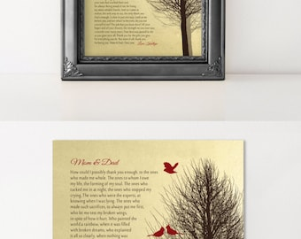 Gift for PARENTS Gift from Daughter, from Son Gift for Mom and Dad Personalized Print Anniversary Gift CHRISTMAS