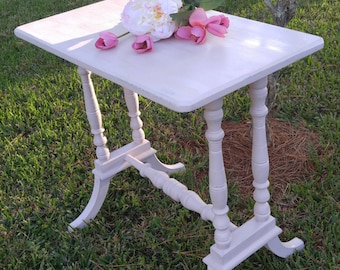 Pink side table,Small table,Entryway/Accent table,Annie Sloan painted table,Distressed Table,Shabby Chic table,occasional table,TABLE SOLD