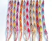 Friendship Bracelets - Handmade Arrowhead Pattern - Choose Your Color - Tribal, Boho, Bohemian - Bright, Colorful
