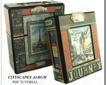 Cityscapes Mini Album PDF Tutorial, Graphic 45