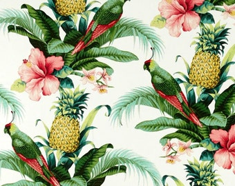 Pineapples & Parrots Indoor/Outdoor Pillow Cover