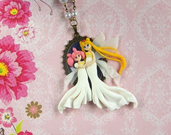 Sailor Moon Queen Serenity & Chibiusa Motherlove Collection Cameo
