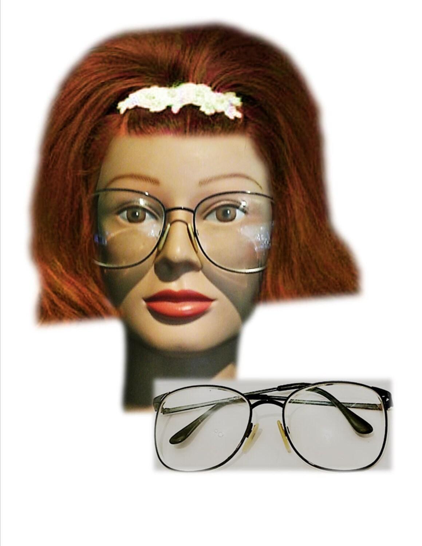 Jean lafont eyeglasses frames - Vintage Eyeglasses Vintage Wire Rimmed Glasses Charmant 80 S 90 S Over Sized Nerdy Eye Wear Hipster Wire Rims Round Frames Blue
