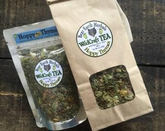Hoppy Thymes Herbal Tea, Loose Leaf Tea, Tisane, Dried Hops, St. John's Wort, Sleepytime Tea, Calming, Wild Harvested and Organic Herbs