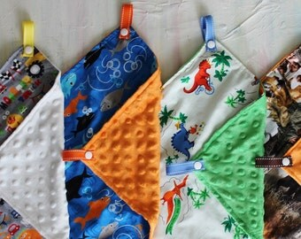 Paci-Patch | Pacifier Lovey | Pacifier Blanket | Minky Pacifier Blanket | Minky Lovey | Minky Blanket | Security Blanket