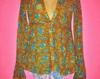 Floral Cardigan Sweater, Size M