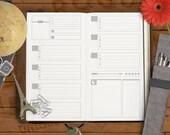 SkinnyJane - Week Guideline Printable Insert for Midori and Fauxdori Travelers Notebooks & Personal Filofax