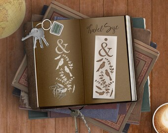 Twitterpaiting Bookmark Stencil -- For Quick Marks In Journals, Planners & Scrapbooks While Your Mind's On The Move