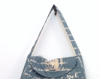 Tote Bag / Shoulder Bag / Tote /  Diaper Bag / travel tote / Handbag / Purse/ Satchel / Denim Blue and Natural