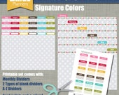 Print & Cut Dividers - Sized for our Large Planners - Signature Design - Instant Download
