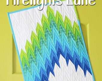 Mini Firelights Lane quilt pattern by Sassafras Lane Designs - mini quilt pattern, modern mini, modern quilt, ombre quilt, triangle quilt