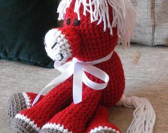 "Crocheted pony horse stuffed animal doll  toy ""Blaze"""