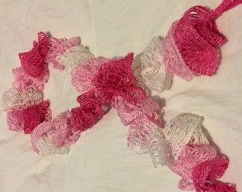 Frilly Knit Scarf