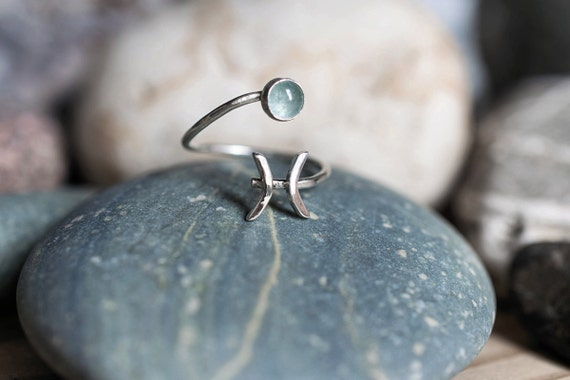 Pisces Ring Etsy