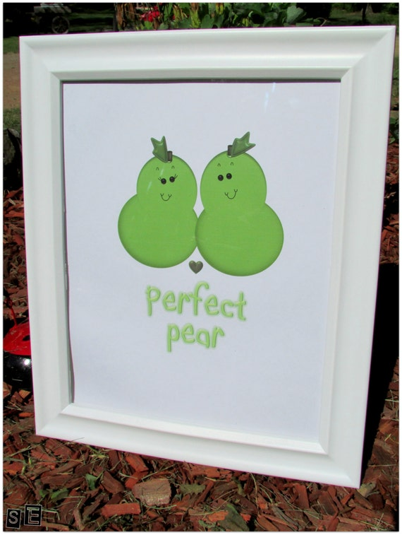 Perfect pear pear art digital pear art pear decoration Pear home decor