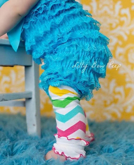 Rainbow Chevron Stripe Leg Warmers