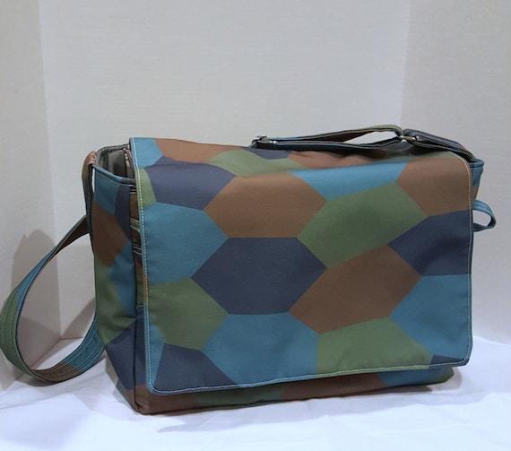items similar to daddy diaper bag large messenger bag for men computer bag lozenge camo bag. Black Bedroom Furniture Sets. Home Design Ideas