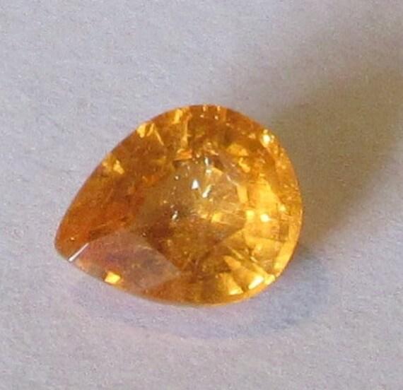 2 Carat Natural Bright Orange Spessartite Garnet Gemstone 7x8.5mm Pear
