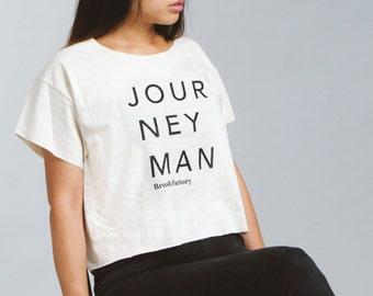 Graphic tee shirt Journeyman cotton graphic tee - craftsmanship woodworking maker design fashion tee