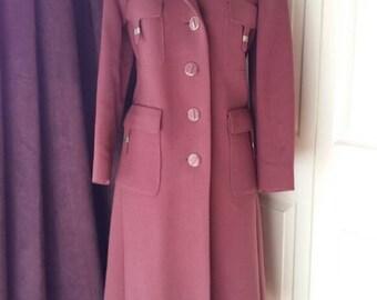 Stunning Vintage 1970's  Biba style coat