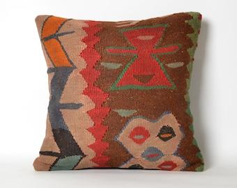 anatolian pillow, kilim pillow, decorative pillow, turkish pillow, vintage pillow, turkish kilim pillow, bohemian pillow, handmade pillow