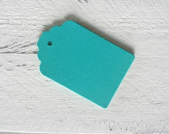 Teal or Blue Gift Tags-50 Gift Tags-100 Gift Tags-Hang Tags-Price Tags-Blank