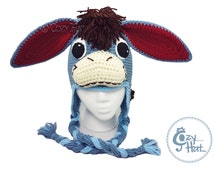Donkey Hat with Detachable Tail (optional) MADE to ORDER